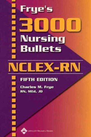 Frye's 3000 Nursing Bullets For Nclex-Rn