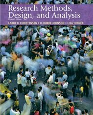 Research Methods Design And Analysis by Larry B Christensen