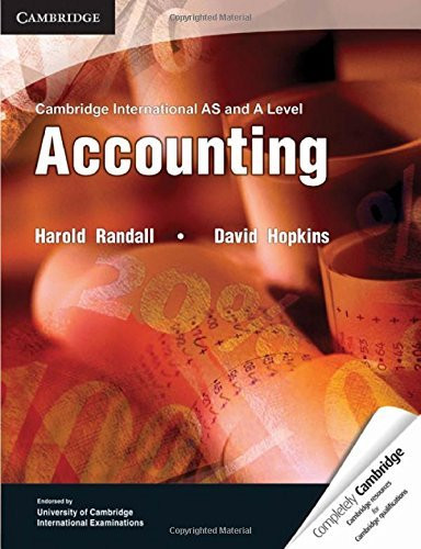 Cambridge International As And A Level Accounting Textbook