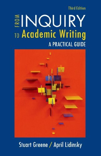 From Inquiry To Academic Writing A Practical Guide