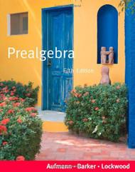 Prealgebra - by Aufmann