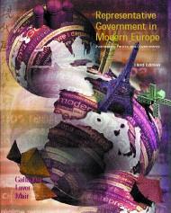 Representative Government In Modern Europe