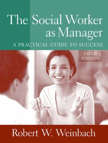 Social Worker As Manager