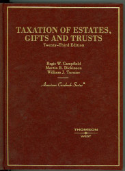 Taxation Of Estates Gifts And Trusts