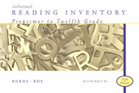 Informal Reading Inventory