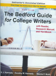 Bedford Guide For College Writers With Reader Research Manual And Handbook