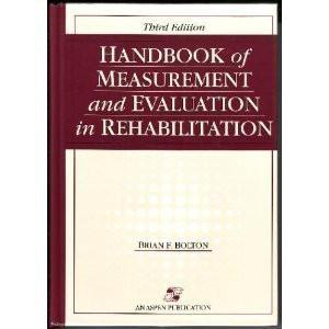 Handbook Of Measurement And Evaluation In Rehabilitation