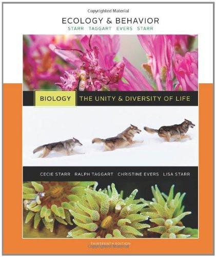 Ecology And Behavior Volume 6