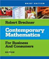 Contemporary Mathematics For Business And Consumers Brief Edition