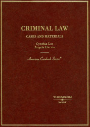 Criminal Law Cases And Materials