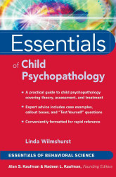 Essentials Of Child And Adolescent Psychopathology