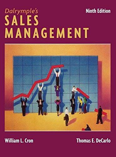 Dalrymple's Sales Management