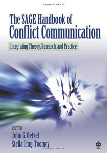 Sage Handbook Of Conflict Communication