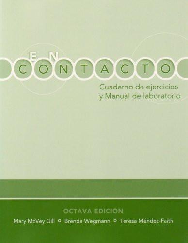 Student Activities Manual For En Contacto