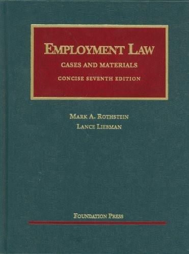Employment Law Cases And Materials Concise