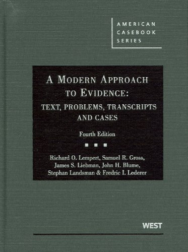 Modern Approach To Evidence