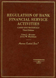Regulation Of Bank Financial Service Activities