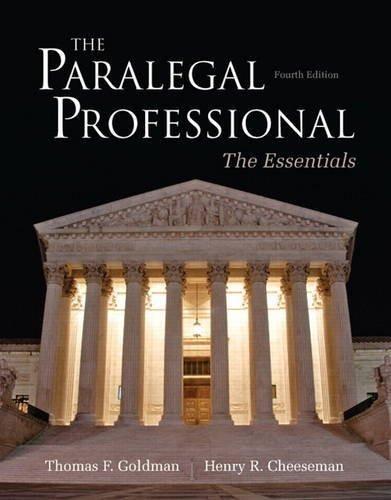 Paralegal Professional The Essentials