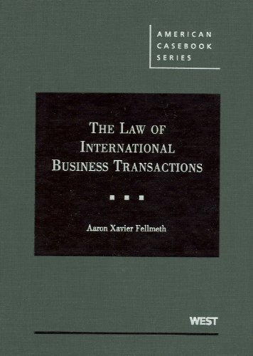 Law Of International Business Transactions