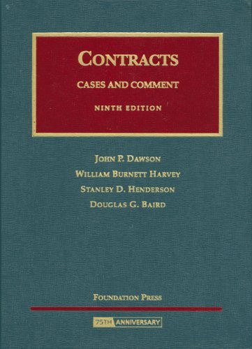 Contracts Cases And Comment