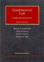 Schlesigner Baade Herzog And Wise's Comparative Law