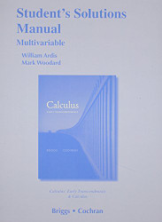 Student Solutions Manual Multivariable For Calculus And Calculus