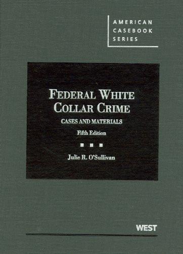 Federal White Collar Crime