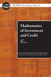 Mathematics Of Investment And Credit by Asa Samuel A & Broverman