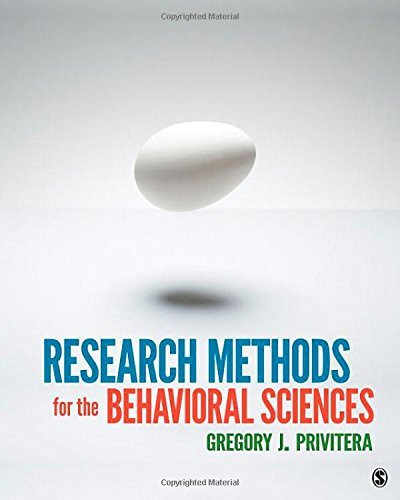 Behavioral Sciences: Research Methods For The Behavioral Sciences By Gregory