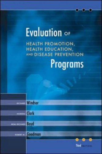 Evaluation Of Health Promotion Health Education And Disease Prevention Programs