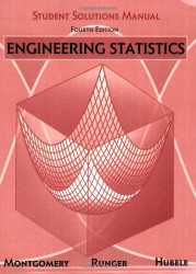 Engineering Statistics Student Solutions Manual