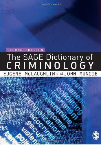 Sage Dictionary Of Criminology