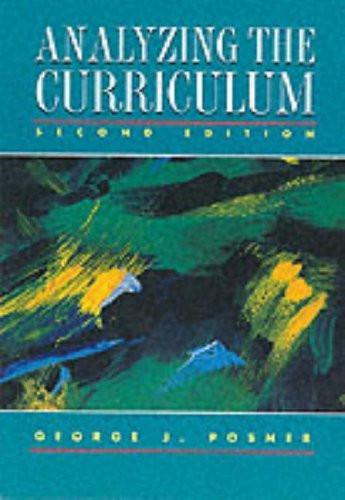 Analyzing The Curriculum