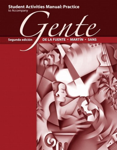 Student Activities Manual For Gente