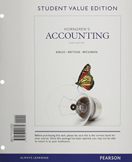 Horngren's Accounting And New Myaccountinglab