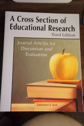 Cross Section Of Educational Research