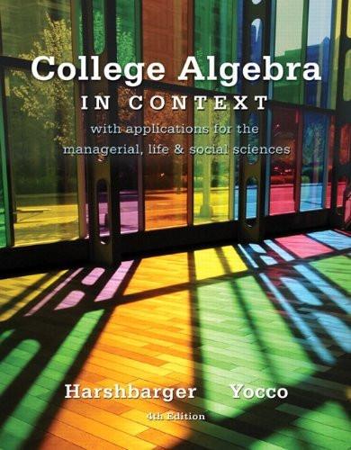 College Algebra in Context -- Access Card