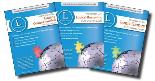 Manhattan LSAT Set of 3 Strategy Guides