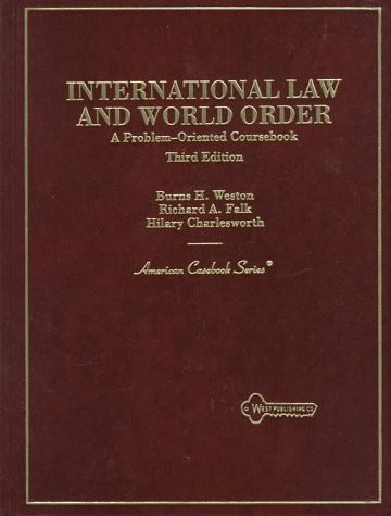 International Law And World Order
