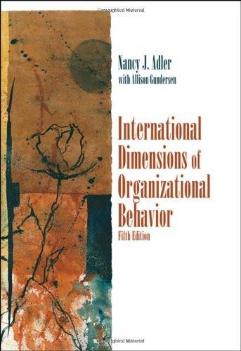 International Dimensions Of Organizational Behavior