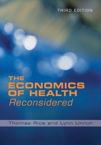 Economics Of Health Reconsidered