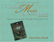 Anthology Of Scores For A History Of Music In Western Culture Volume 1