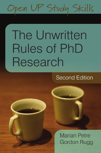 Unwritten Rules Of Phd Research