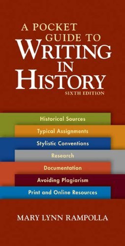 Pocket Guide To Writing In History