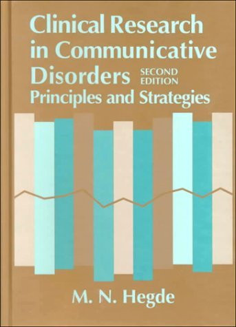 Clinical Research In Communicative Disorders