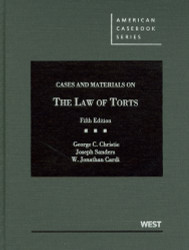Cases And Materials On The Law Of Torts
