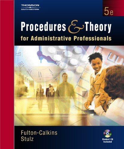 Procedures And Theory For Administrative Professionals