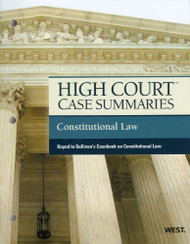 High Court Case Summaries Constitutional Law
