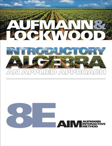 Student Solutions Manual For Aufmann/Lockwood's Introductory Algebra