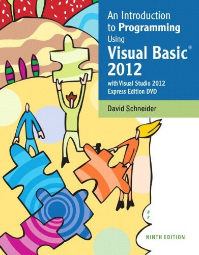 Intro To Programming Using Visual Basic 2012